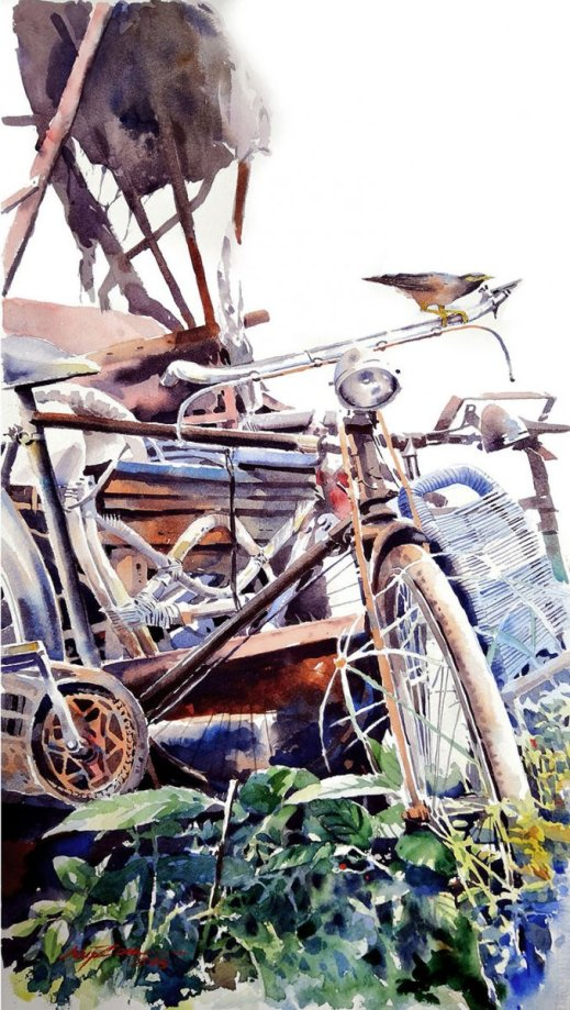 THE GUARDIAN Bicycle Watercolor Abey Zoul