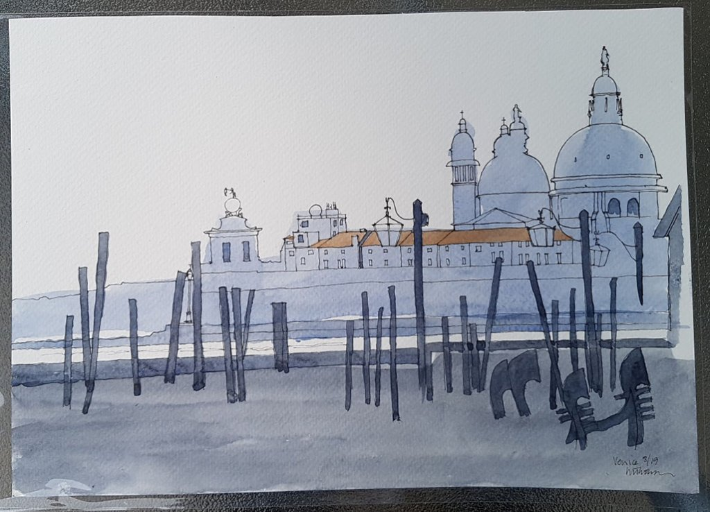 Venice By The Water Watercolor Illustration by Ian Thomson