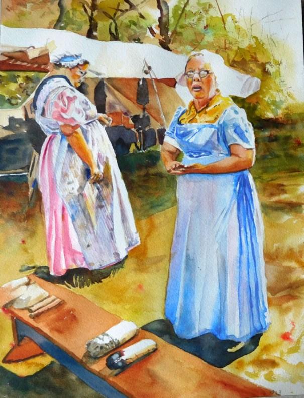 Women Watercolor Painting Kathleen M Ward