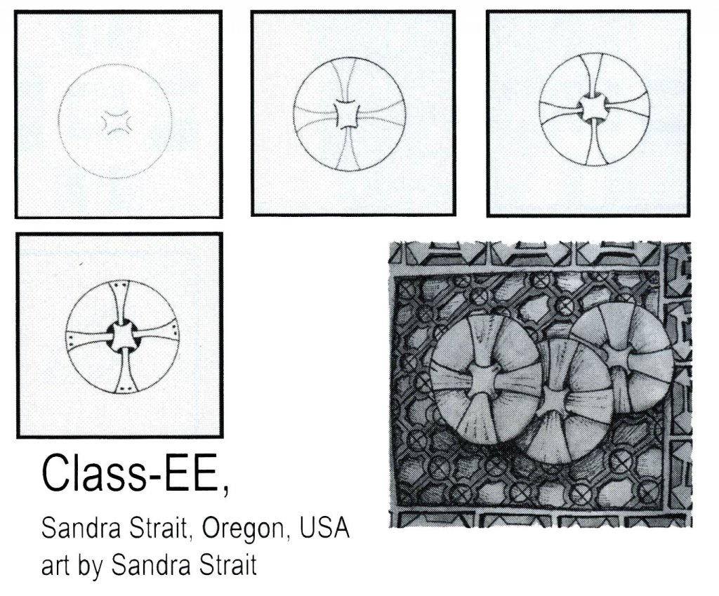 Zentangle Pattern Circle