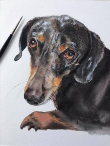 I like to paint portraits of pets and people, they are very special to people who love, I would like