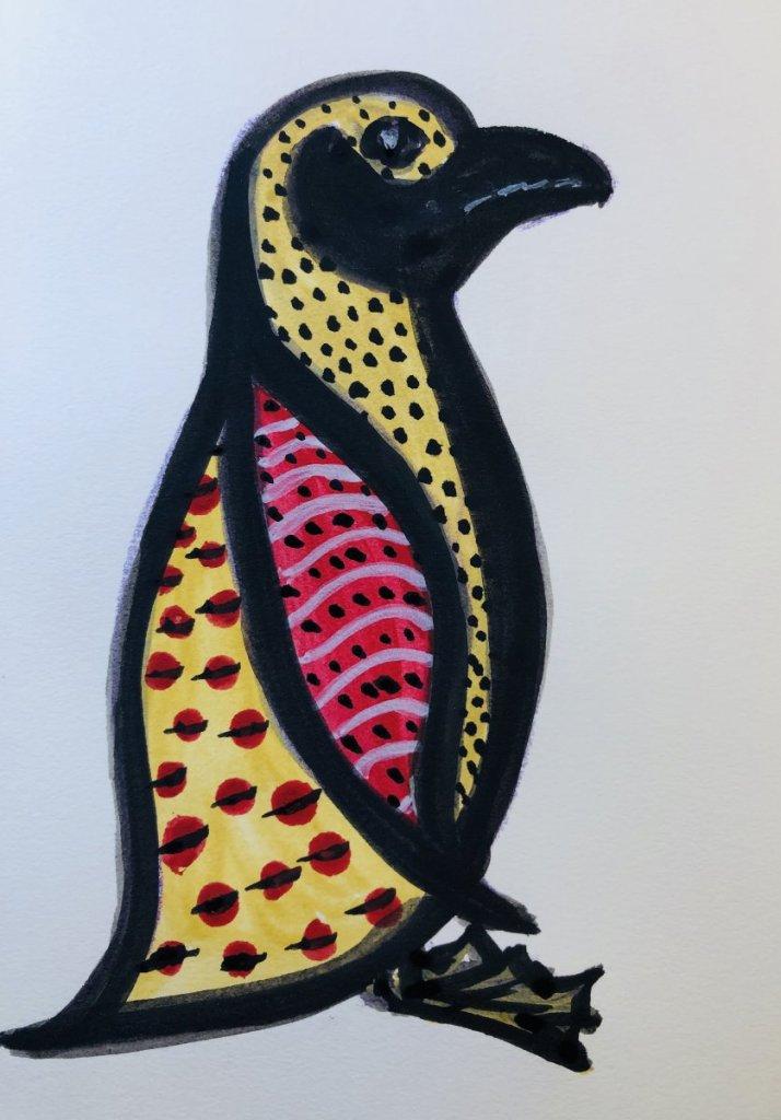 #doodlwashNovember2019 #doodlewashNovember2019FunThingstoDraw Day 20: Penguin 8E1CD038-18B2-47EB-8BD