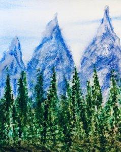 #doodlwashNovember2019 #doodlewashNovember2019FunThingstoDraw Day 19: Mountains B64B8B8A-D623-43CA-A