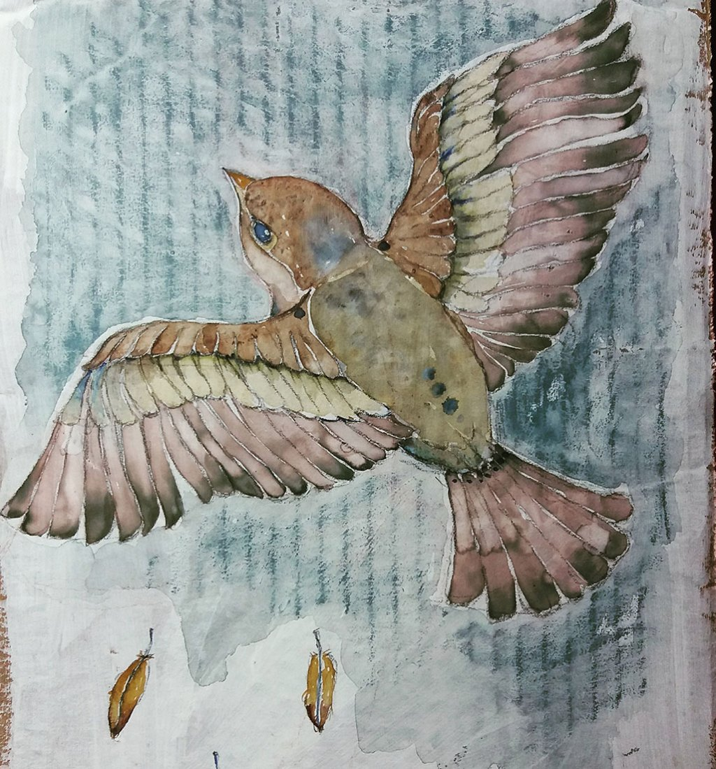 Bird Watercolor by Silvia Elena Pastor