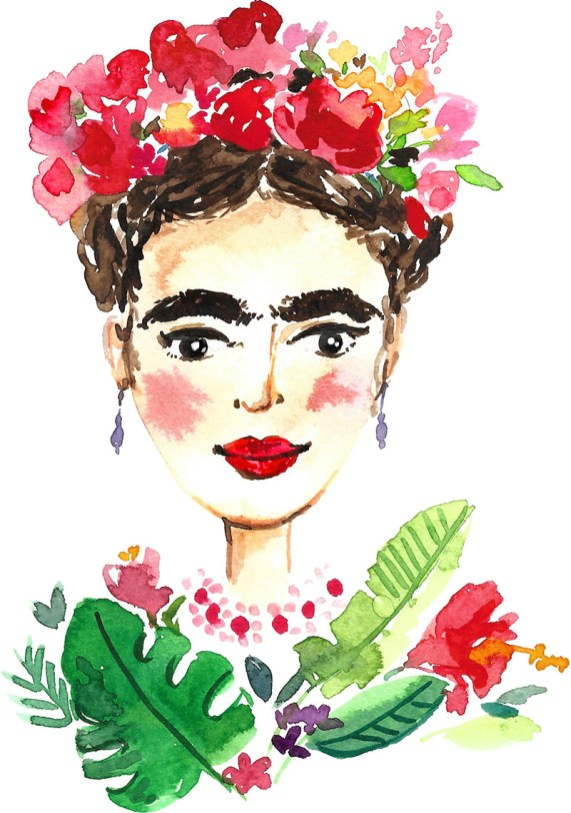Frida watercolor by Anna Koliadych