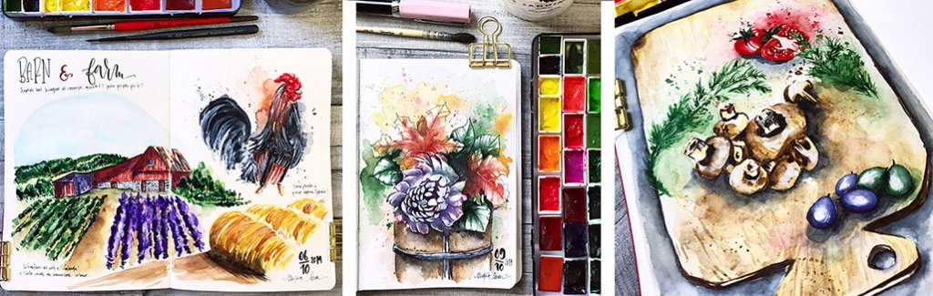Paintings In Watercolor by Marsia Bramucci