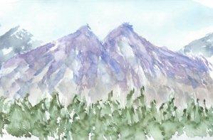 Purple peaks Twin Peaks