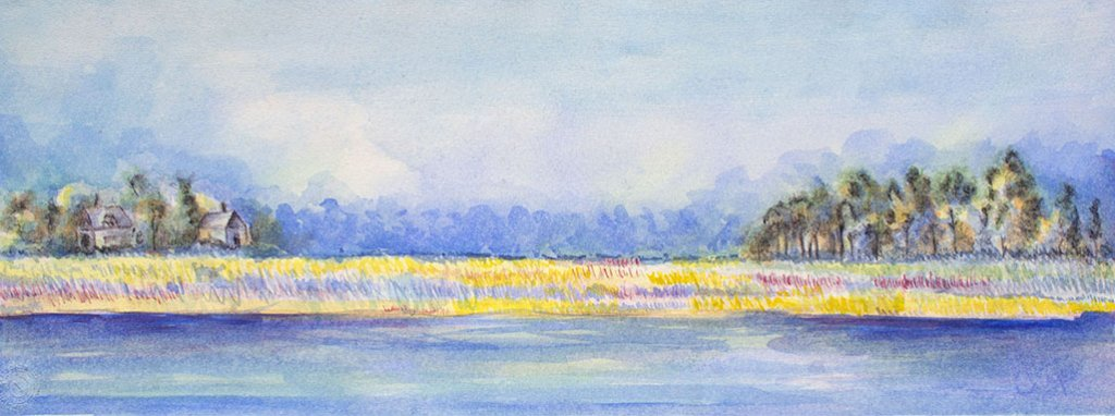 Watercolour Landscape Painting by Atique Ahmed