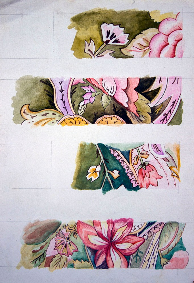 Watercolour Painting Design Floral Pattern
