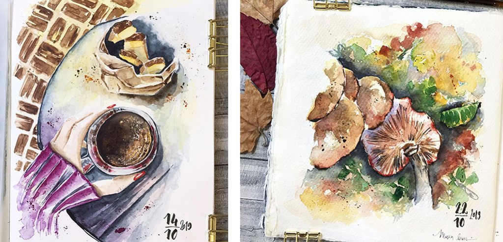 Watercolor Paintings by Marsia Bramucci