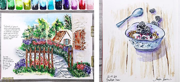 Watercolor Sketchbook Paintings Two by Marsia Bramucci