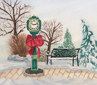 December calendar page which I'm using as my Christmas card this year. new clockthanksgiving c
