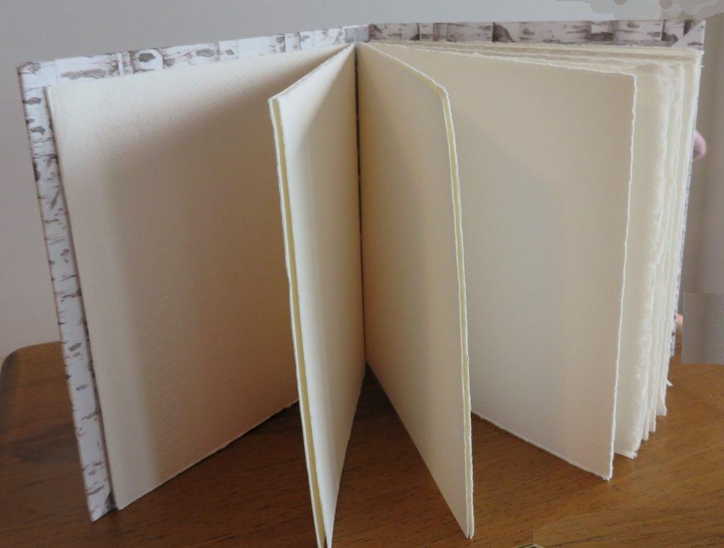 Sketchbook paper Interior view