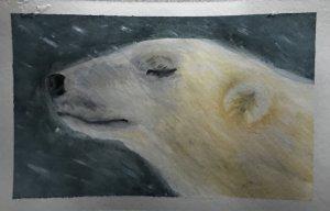 Dec. 28 gouache(days 26 & 11 Polar Bear & Snowflake) 4CCEEC47-94F9-4EBF-9FED-A26A40E9E922