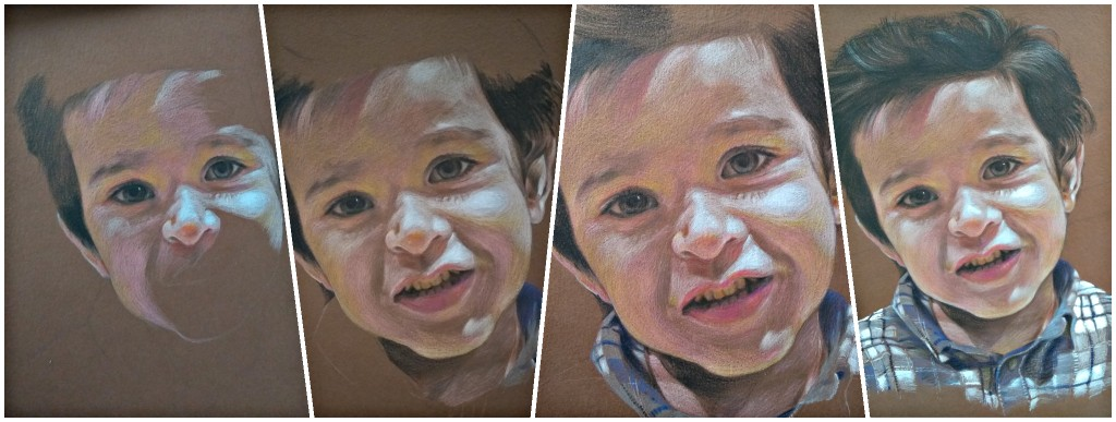 Child Young Boy Portrait Drawing