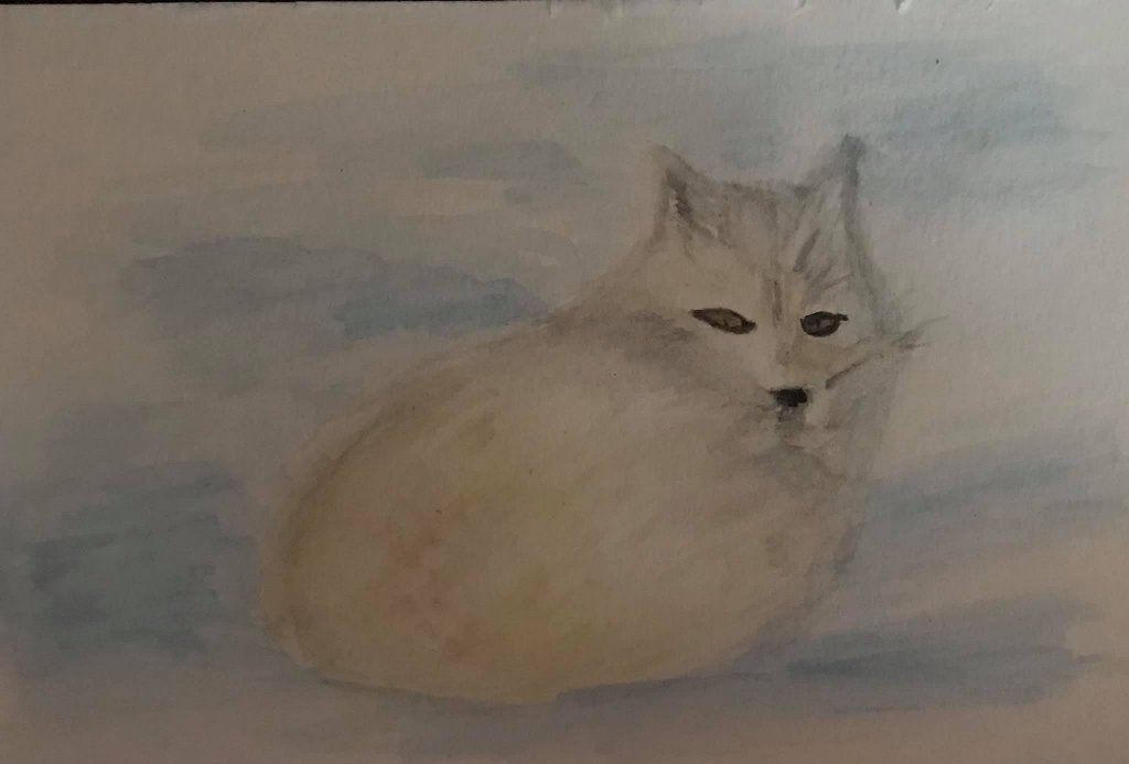 Dec. 24 watercolor (days 19 Arctic Fox) Day24_19ArticFox_watercolor