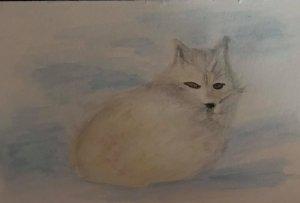 Dec. 24 watercolor (days 19 Arctic Fox) Day24_19ArticFox_watercolor
