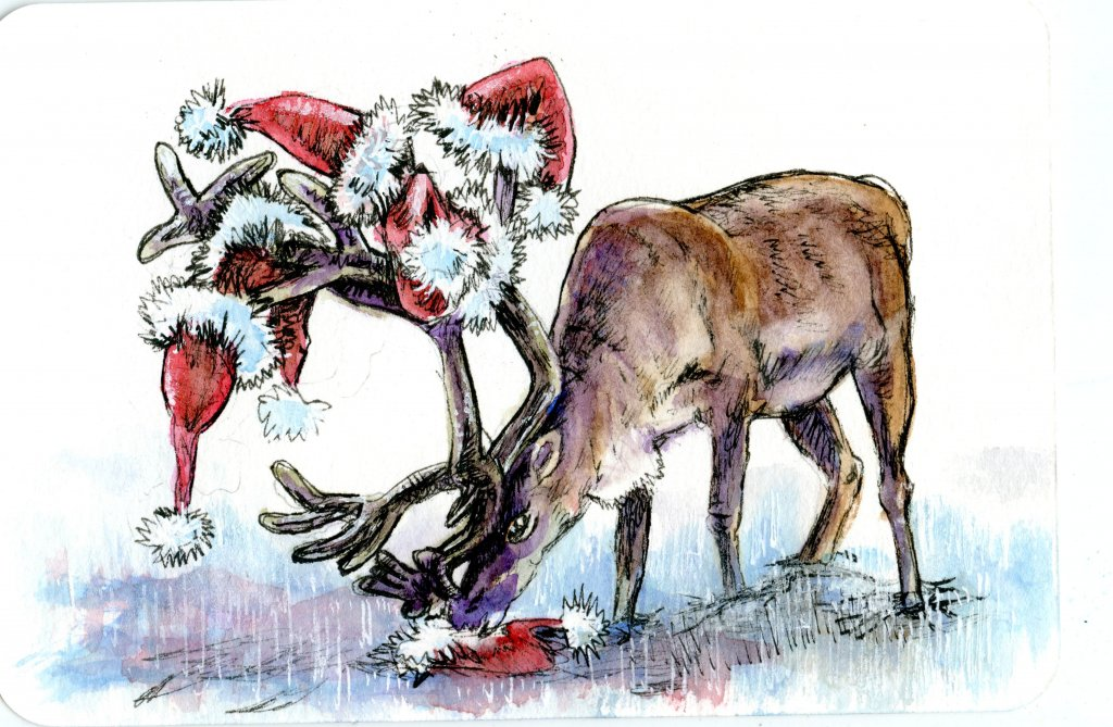 #Doodlewash Prompt: Reindeer Sure. Everyone knows about Dasher, Dancer, Prancer, Vixen, Comet, Cupid