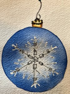 Christmas ornament for today's challenge! IMG_0556