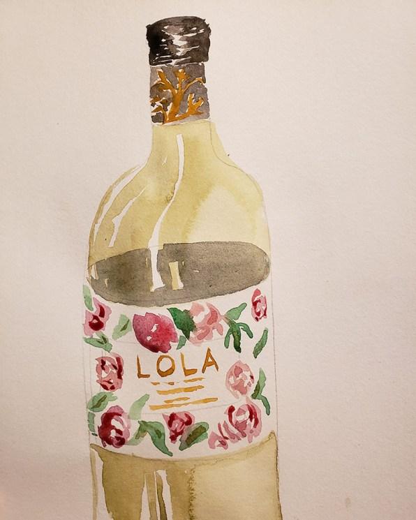 Wine Bottle Watercolor Shanyn Silinski
