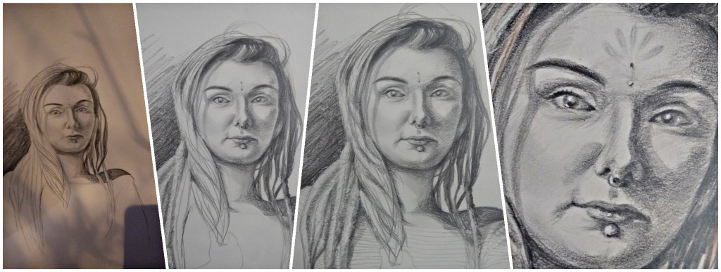 Womans Portrait Drawing
