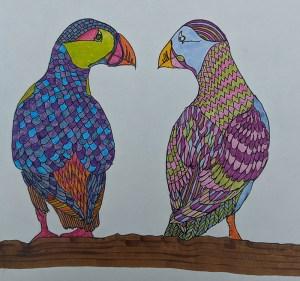 Doodlewash December Day 8 – Birds sb70p19
