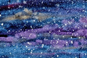 1/22/20 Galaxy An opportunity to play with my iridescent paints and Stonehenge paper. 1.22.20 Galaxy
