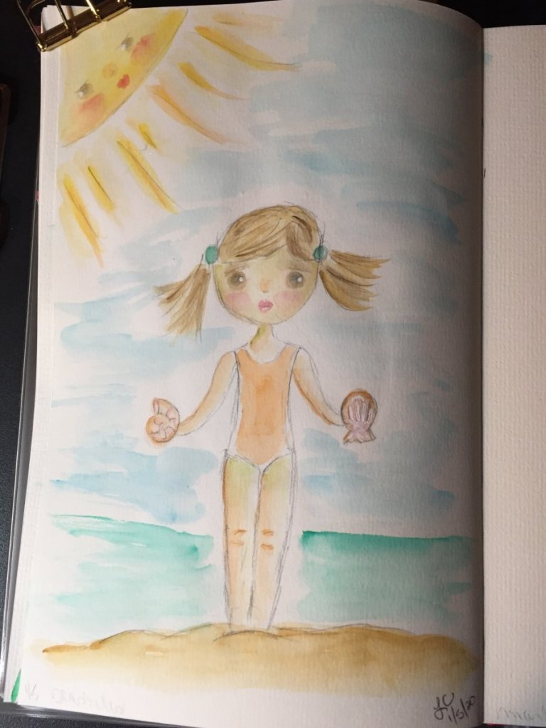 Love my morning quiet painting time. Just doodling. Seashells…barely. 2D8B7282-7D3D-47A6-8A2B-