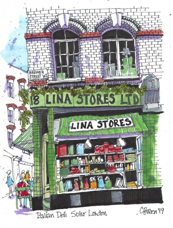 English shop Illustration Charlie Breen
