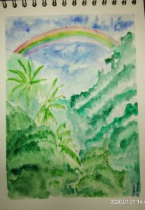 #doodlewashJanuary2020 #WorldWatercolorGroup #Beginner #Day28+29+30+31 #Carousel #Tiger #Rainforest