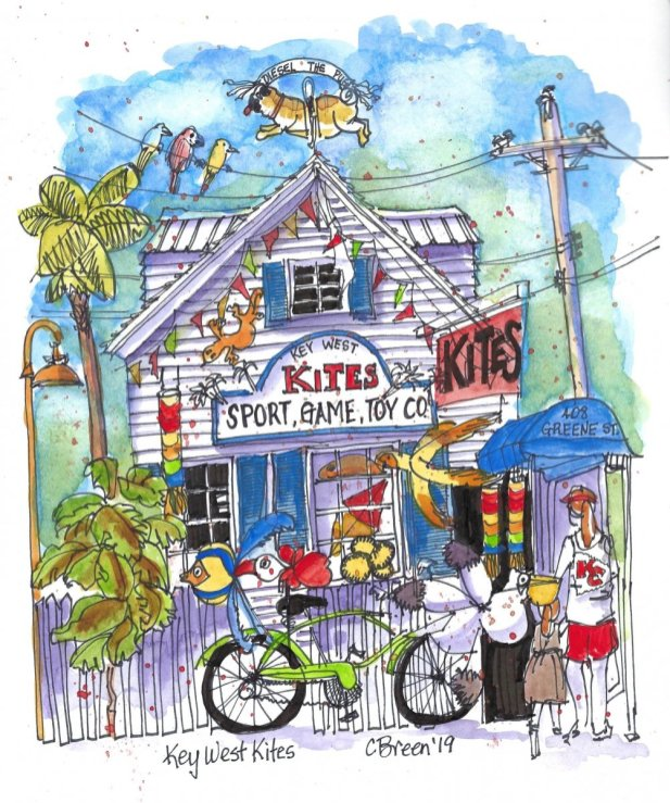 Key West drawing urban sketching
