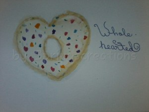 day 8 of 100 days of hearts/ doodle wash prompt doughnuts. 🙂 PSX_20200114_102555
