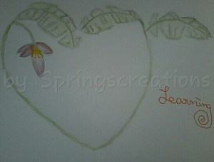 Doodle wash challenge banana and day 11 of 100 days of hearts. So I have seen a banana tree before b