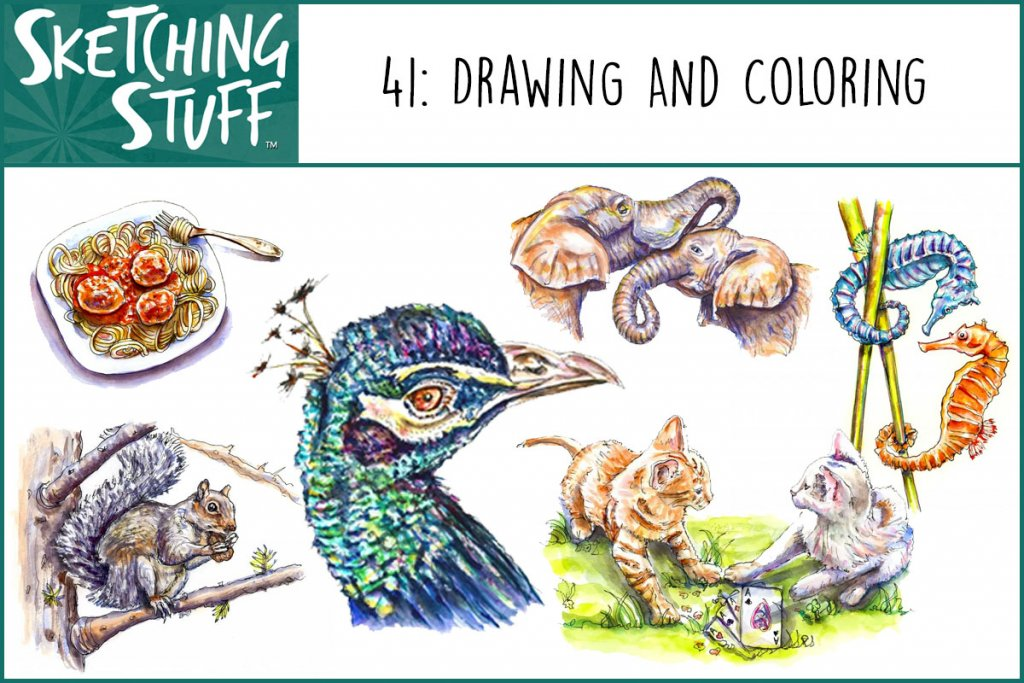 Sketching Stuff Episode 41 Drawing And Coloring Album Art