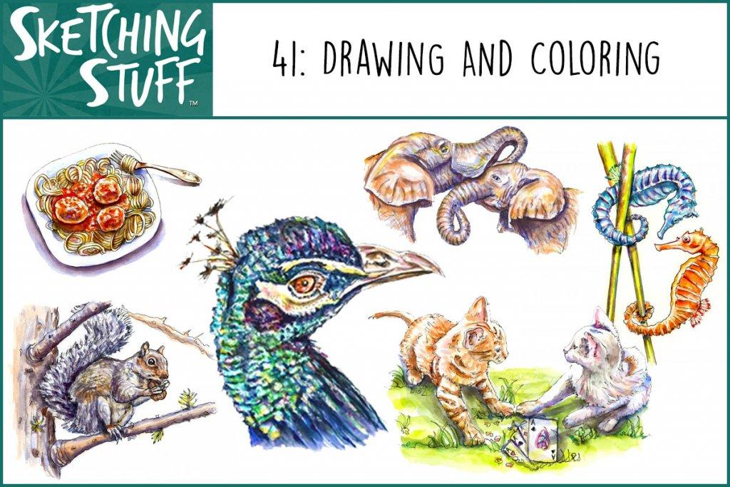 Sketching Stuff Episode 41 Drawing And Coloring Album Art