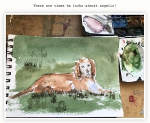 #sketchbook #hamish Watercolour in Bockingford sketchbook…gorgeous paper by the way 🙂 fulls