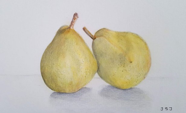 Pears Watercolor Painting