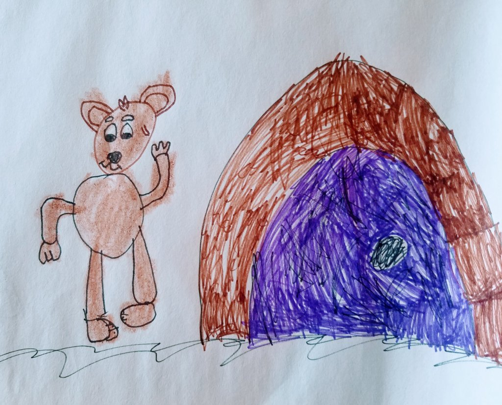 This is an entry by John, my 7 yr old grandson, who loves to draw! I told him I would enter it in th