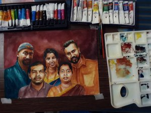 #commissionwork #watercolor #rajmohanartist IMG_20200206_231258_818