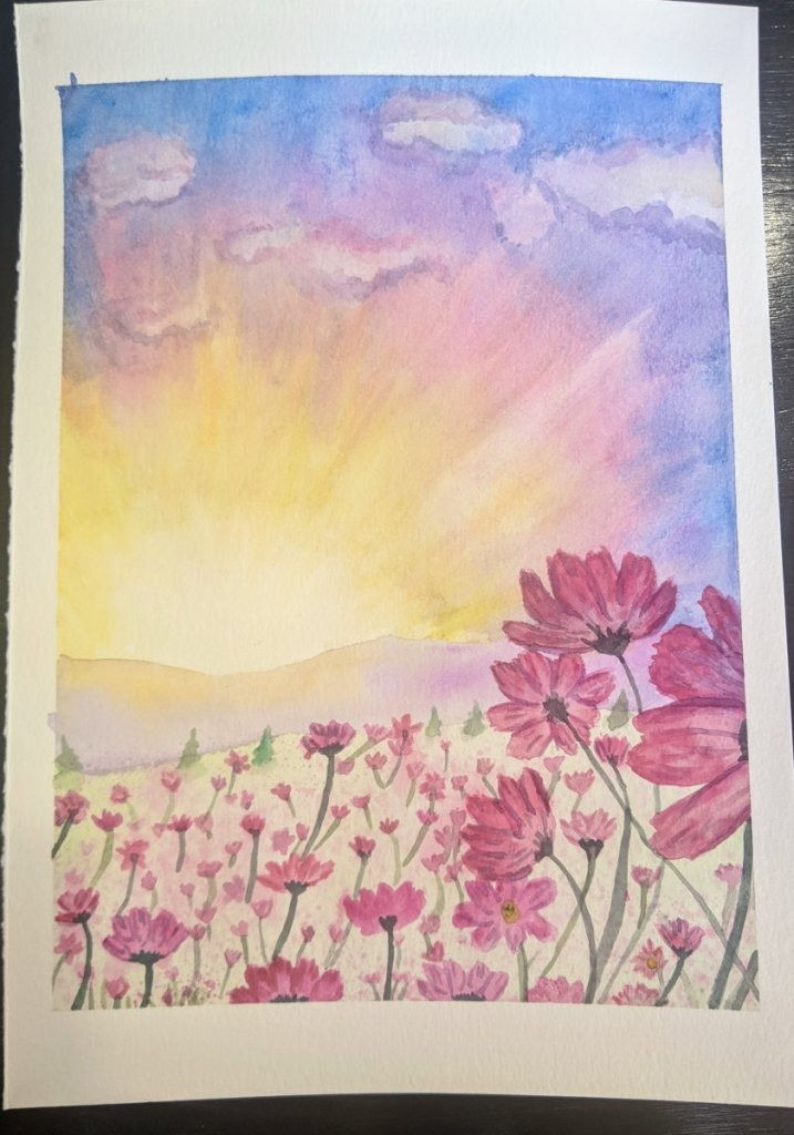 This is my first attempt at a flower field. I thought it was perfect for the February challenge. #do