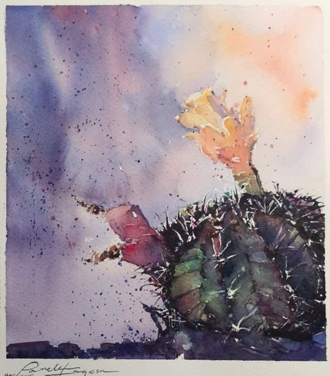 Original_Sabaar Watercolor Painting Pamela Lagrosa