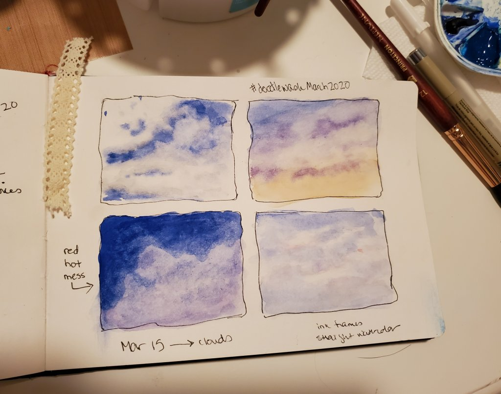 #DoodlewashMarch2020 #Doodlewash #WorldWatercolorGroup March 15 – clouds 2020-03.15-clouds