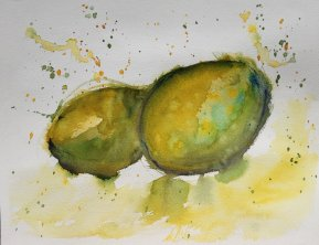 Prompts: Snails…um nope, I followed an Angela Fehr tutorial on negative painting a daisy inste