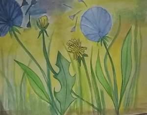 Made dendelion flower watercolor painting.. #doodlewashmarch2020 #doodlewash #worldwatercolorgroup #