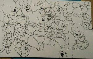 The plentiful poses of Piglet #doodlewashmarch2020 ##watercolorworldgroup IMG_20200329_183530IMG2020