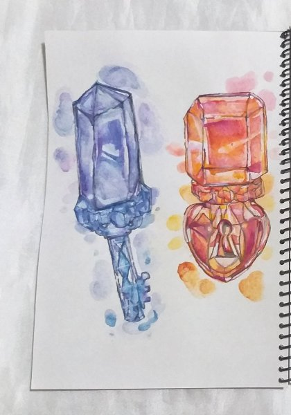 Hi,everyone! I am new to crystal painting. I keep making few works with sakura koi watercolor ,water