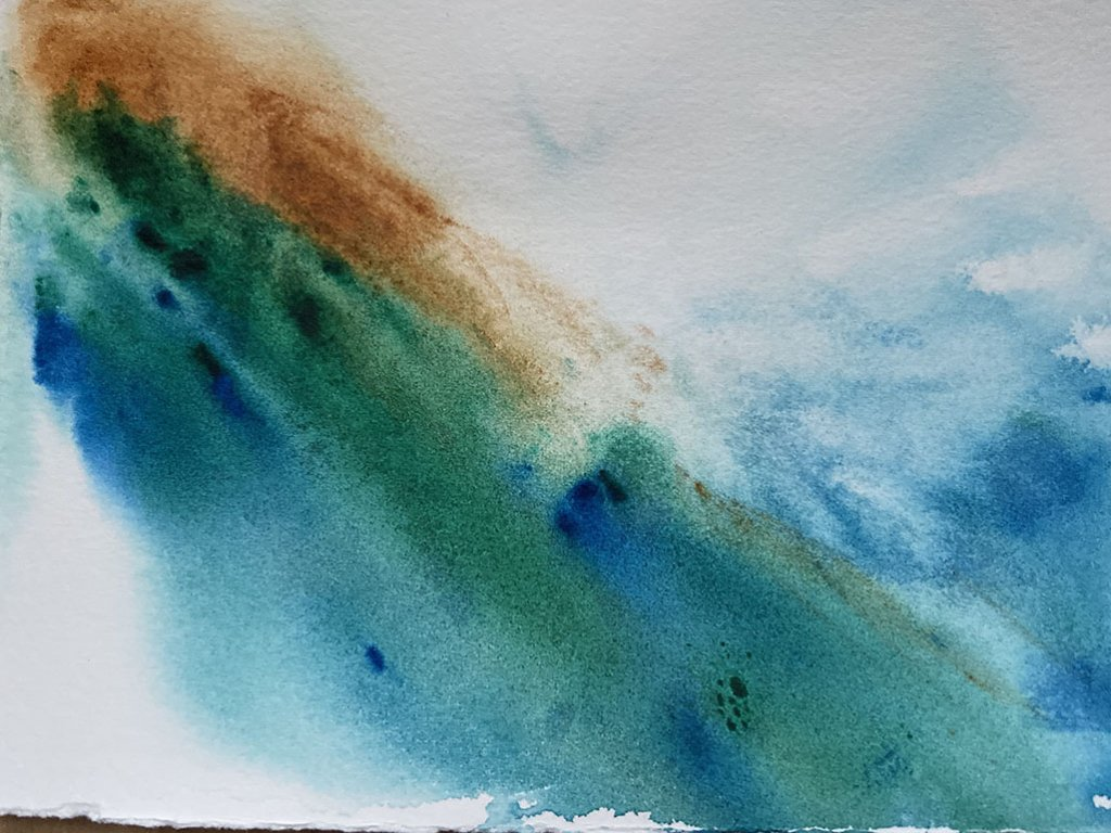 Abstract Watercolor Painting Jennifer Roberts