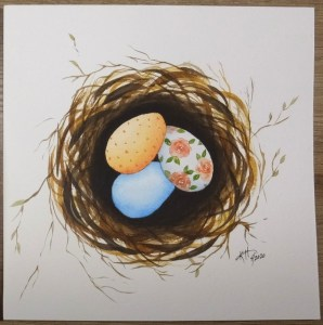 Also combination LMA nest and Emma Lafebvre inspired eggs. Arteza Expert Cellulose 140lb Winsor and