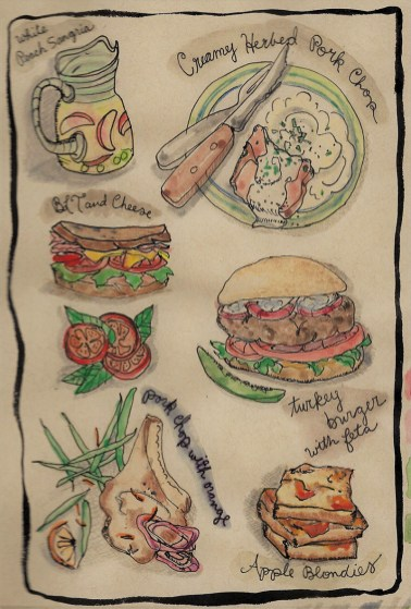 DW Off The Menu Watercolor by Tina Folks
