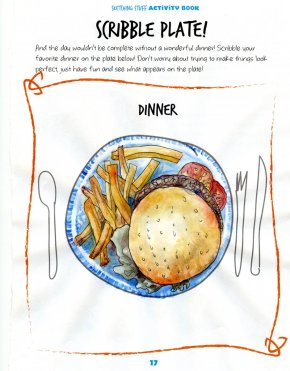 Examples done for my Review of Charlie O'Shields' Sketching Stuff Activity Book: Food wi